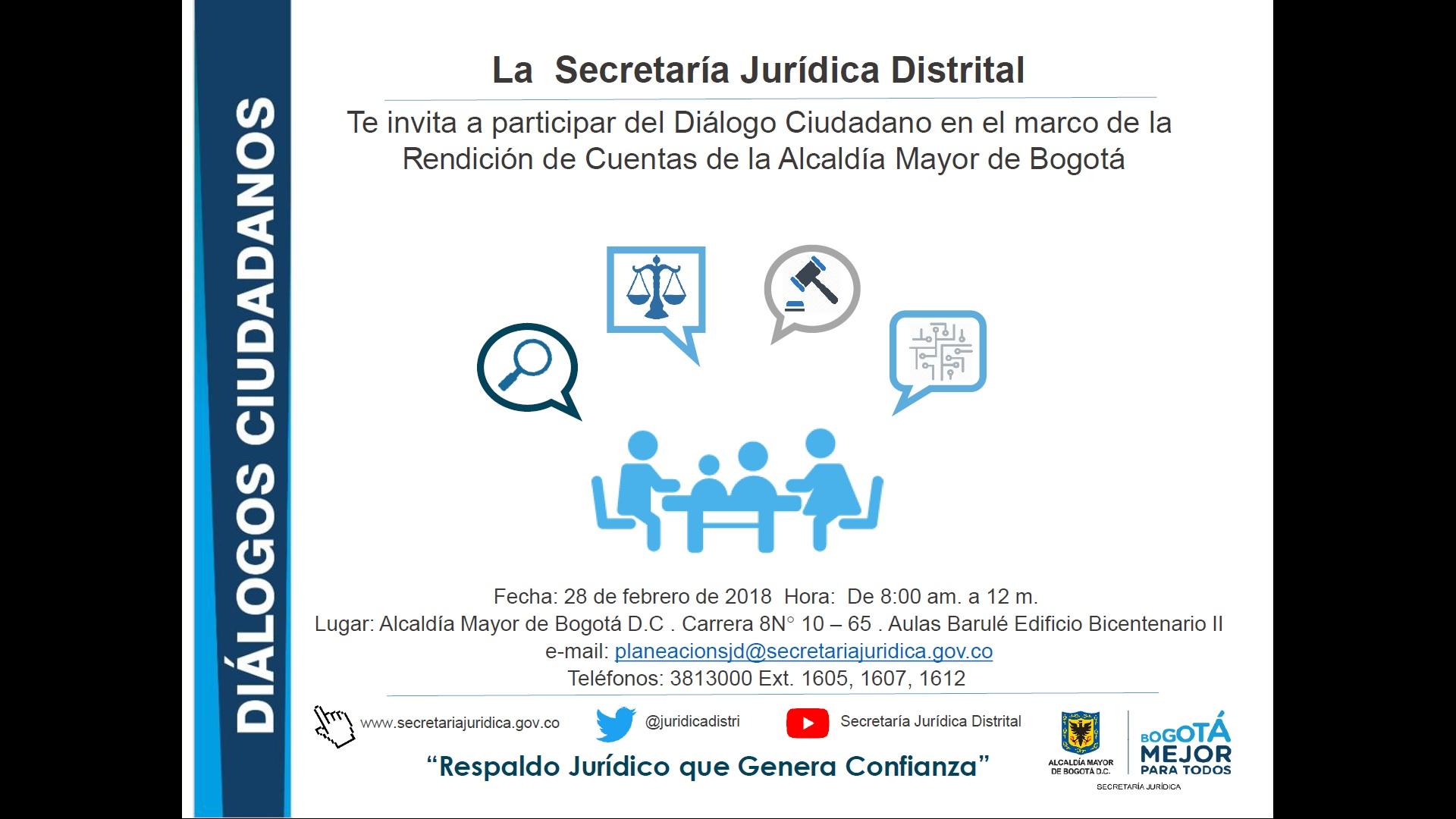 Diálogos Ciudadanos SJD   Secretaría Jurídica Distrital